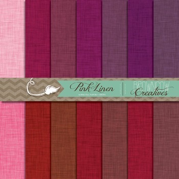 Pink  & Red Linen Backgrounds // Digital Papers