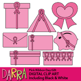 Pink Ribbon Day Gift Clipart, Breast Cancer Awareness