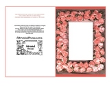 Pink Ribbon Roses Leaves Easel Photo Frame Card printable