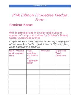 Pink Ribbon Week Ideas --  A Freebie for October!