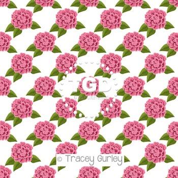 Pink Rose digital paper Printable Tracey Gurley Designs