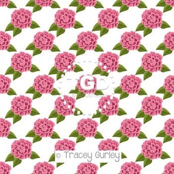 Pink Rose digital paper Printable Tracey Gurley Designs