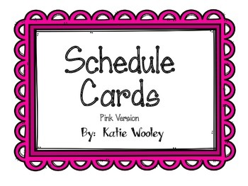 Pink Schedule Cards