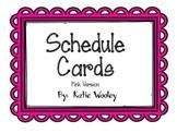 Pink Schedule Cards