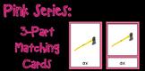 Pink Series- 3 Part Mathcing Cards