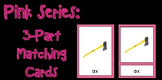 Pink Series- 3 Part Mathcing Cards