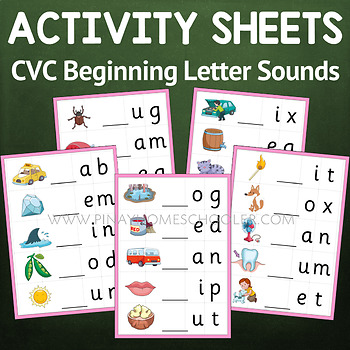 Montessori Pink Series Beginning Letter Sounds Activity Sheets