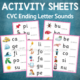 Montessori Pink Series Ending Letter Sounds Activity Sheets