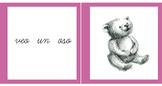 Pink Series Montessori Cursive Reading 3 Part Cards in Spanish