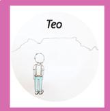 "Pink Series Montessori Script Reading Book ""Teo"" in Spanish"