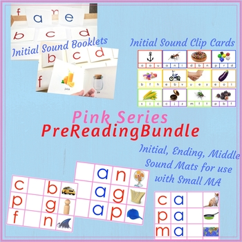 Pink Series Pre-Reading bundle -- Montessori Pink Reading