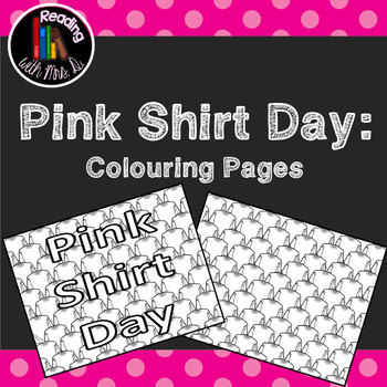 Pink Shirt Day Colouring Pages