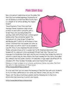 Pink Shirt Day Freebie