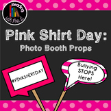 Pink Shirt Day Photo Booth Props