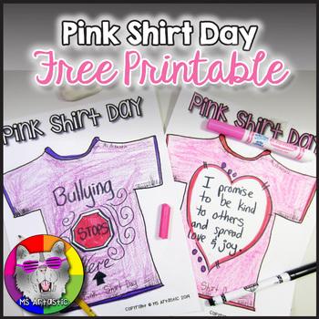 Pink Shirt Day Printable FREEBIE