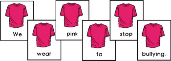 7 Pink Shirt Day Scrambled Sentences PLUS Recording Page