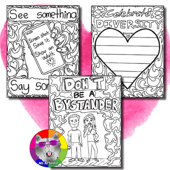 Pink Shirt Day Coloring Pages, Zen Doodles
