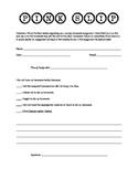 Pink Slip - Missing Homework Form