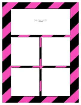 Pink Sorting Mat Frames * Create Your Own Dream Classroom / Daycare *