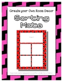 Pink Sorting Mat Frames * Create Your Own Dream Classroom
