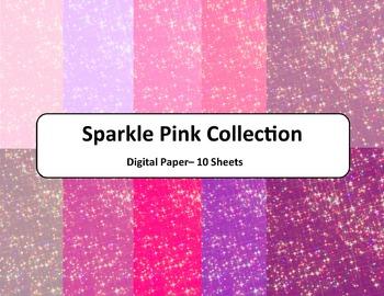Pink Sparkle Paper