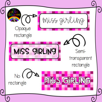 Pink Squares Labels {EDITABLE!}