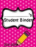 Pink Student Binder