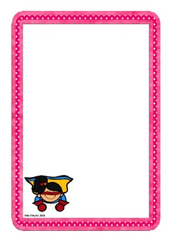 Pink Superhero Worksheets