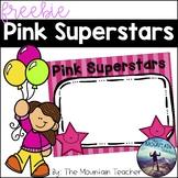 Pink Superstar Display Board