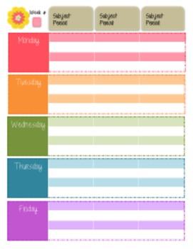 Pink Teacher Planner