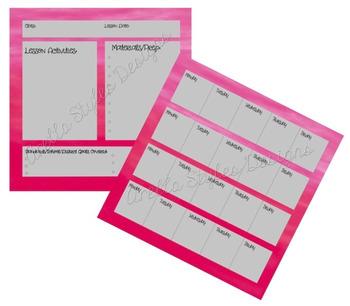 Pink Teacher Planner Set
