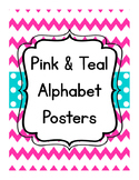 Pink & Teal Alphabet Posters