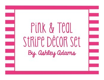 Classroom Decor in Pink & Teal