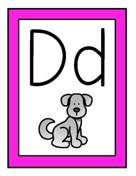 Pink Theme Alphabet Posters