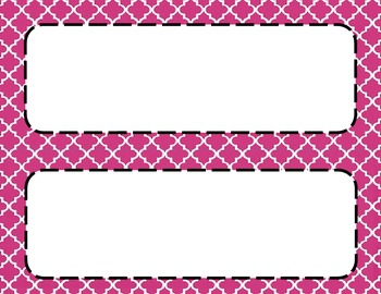 Pink Tile Classroom Labels and Tags