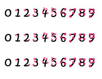 Pink Touch Math Strips