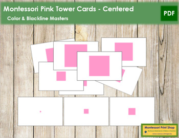 Pink Tower Cards - Centered