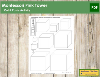 Pink Tower - Cut and Paste