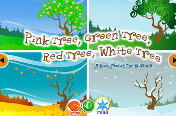 Pink Tree, Green Tree. A Book About The Seasons INTERACTIVE version