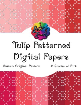 Pink Tulip Pattern Digital Paper