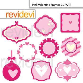Pink Valentine Frames Clipart
