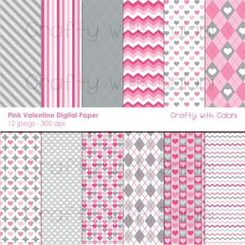 Pink Valentine Theme Digital Paper
