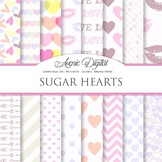 Pink Valentine's day Digital Paper scrapbook background, love, romantic, pattern