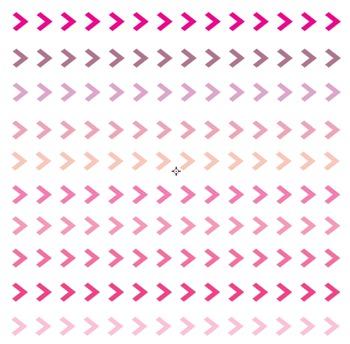 Pink Valentines Arrowhead Borders