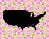 United States Map Poster Class Decor, Classroom Decoration