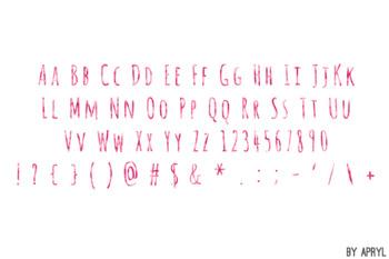 Pink Watercolor Alphabet Clip Art Metallic Look 81 PNG Letters Numbers S10