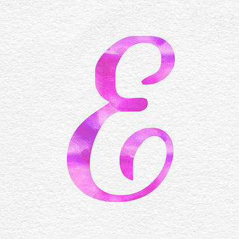 Pink Watercolor Alphabet Clipart - Uppercase Letters
