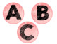 Pink Watercolor Library Label
