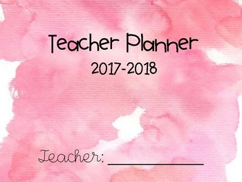 Pink Watercolor Teacher Planner & To-Do Lists - FREE UPDATES!!!