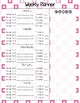 Pink Weekly Student Assignment Planner